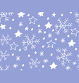snowflake simple seamless pattern vector image
