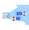 social networking concept chatting vector image vector image