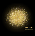 sparkling background golden glitter explosion vector image vector image