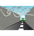 street with barbed wire vector image vector image