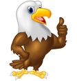 Strong and powerful eagle giving thumb up vector image vector image
