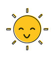 sun character isolated icon vector image