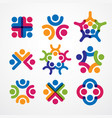 teamwork and friendship concepts created with vector image