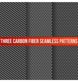 Three seamless carbon patterns vector image vector image