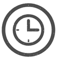Time Icon Rubber Stamp vector image vector image