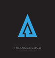 Triangular Business logo with arrow design element vector image vector image