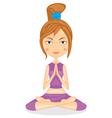 Yoga girl vector image