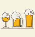 set of beer icons beer bottle glass pint vector image