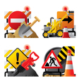 Roadwork icons vector image