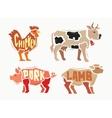 color Farm animals vector image