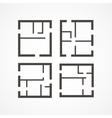 Floor plan icons vector image