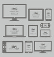 Modern computer and mobile devices set vector image