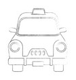 taxi antique vehicle vector image
