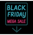 Black Friday poster glowing light letter on black vector image