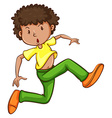 A simple drawing of a young man dancing vector image vector image