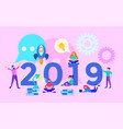a successful startup in the new year vector image vector image