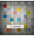 Abstract background - colorful squares vector image vector image