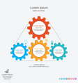 abstract infographics template with gears vector image vector image