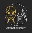aesthetic surgery chalk icon