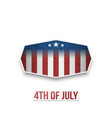 american 4th of july national holiday banner vector image vector image