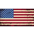 American flag Grunge background vector image vector image
