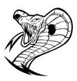 animals art attack black cartoon cobra art attack vector image vector image
