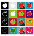 apple icon set logo design vector image
