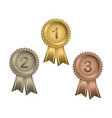 awards with numbers vector image vector image