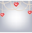 Background with pearl jewelry vector image vector image