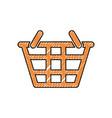 basket sign doodle vector image vector image