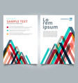 brochure layout design template geometric lines vector image vector image