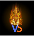 burning concept of confrontation together final vector image vector image
