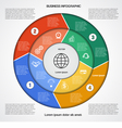 Business circular infographic 4 vector image vector image