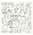 Business doodles hand doodle vector image
