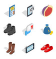 buy out icons set isometric style vector image