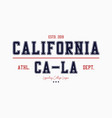 california college typography graphics for vector image vector image