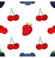 cartoon berries pattern strawberry blueberry vector image vector image