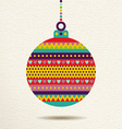 Christmas ornament bauble design in fun colors vector image vector image