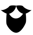 circle beard style beard and mustache icon vector image