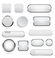 collection of 3d buttons white glass and plastic vector image vector image