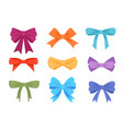 colorful gift bows and ribbons flat vector image vector image