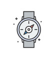 compass line icon for graphic and web design vector image