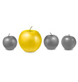 concept with apples vector image vector image