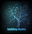 dark neon lonely tree with space for text vector image