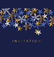elegant blue and gold floral element vector image vector image