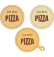 empty round cutting boards with pizza restaurant vector image vector image