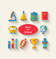 Flat Simple Icons of Elements and Objects vector image vector image