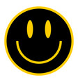 flat smiley happy smiling face vector image
