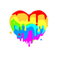 fluid heart of colored figures on white vector image vector image