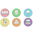 furniture icons set beautiful on a colored vector image vector image